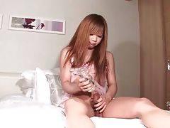Ladyboy Sayaka Ayasaki Teases Her Dick 3