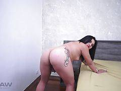 MOUTH FUCK AND BLACK COCK INSERTED DEEP