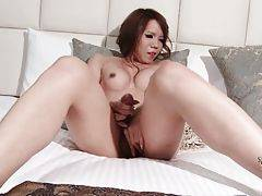 Cute TS Manami Cyojyo Plays With Her Dick 1