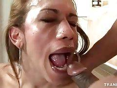 Horny Stud Thoroughly Screws Pretty T-Girl 3