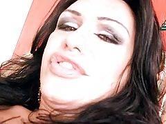 Curvaceous Latin T-Girl Sensually Jerks 3