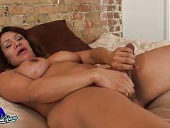 Samantha Jacks Her Big Cock!